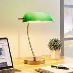 Selea – banklampe med grøn skærm