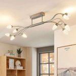 Dæmpbar LED-loftlampe Deyan, 10 lyskilder