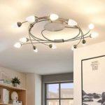 LED-loftlampe Deyan 12 lyskilder, dæmpbar