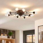 Dæmpbar LED-loftlampe Renato, 8 lyskilder