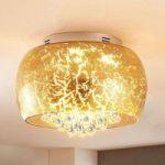 Gylden LED glasloftlampe Ilonka