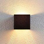 Kompakt tekstil væglampe Adea i sort
