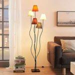 Melis – stof standerlampe, 5 lyskilder til stuen