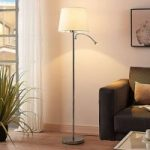 Benjiro – stofstanderlampe med LED læselampe