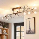 LED-loftlampe Hannes med 12 lyskilder