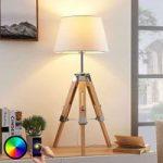 Lindby Smart trefodet bordlampe Alessa, LED RGB
