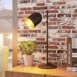 Elegant bordlampe Morik, sort-guld