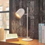 Hvid-sølv bordlampe Morik i moderne stil