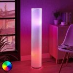 LED-RGB-gulvlampe Alwine med punktdesign