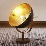 Bordlampe Muriel, 44 cm, sort-guld