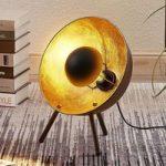Bordlampe Muriel trefod, 38cm sort/guld