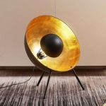 Bordlampe Muriel trefod, 60cm sort/guld