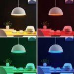 Lindby Smart LED-pendellampe Bowl 41cm hvid