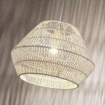 Hængelampe Ottavio af papirflet, hvid