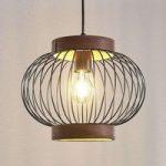 Hængelampe Evora med trædekorering