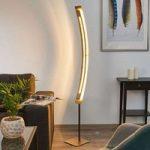 Elegant LED gulvlampe Lolina med guldfinish