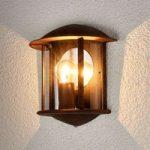 Rustbrun LED udendørs væglampe Maelis