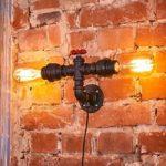Industrielt fremtonende væglampe Tap