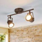 Cansu – LED loftlampe med 2 lyskilder, brun-guld