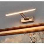 Nikkelfarvet LED-billedlampe Emilias