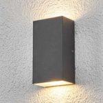 Firkantet LED-udendørs væglampen Weerd