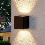 Lukas – LED-udendørsvæglampe med dekorative filtre