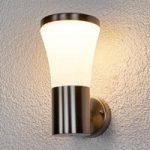 Sumea udendørsvæglampe i rustfrit stål og med LED