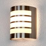Noyan stribet udendørsvæglampe i rustfrit stål