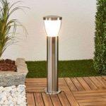 Sokkellampe Selma med LED´er i rustfrit stål