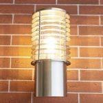 Blændfri udendørs væglampe Finnegan, rustfrit stål