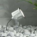 LED-spot med jordspyd Mathis i rustfrit stål