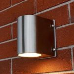 Udendørs LED-væglampe Lavie af rustfrit stål