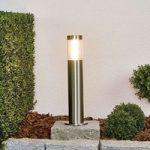 Retlinjet LED-sokkellampe Ellie af rustfrit stål