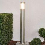 LED-vejlampen Ellie af rustfrit stål