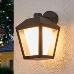 Mørk LED-udendørsvæglampe Keralyn