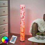 LED gulvlampe Mirella med retromønster, GU10 RGB