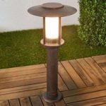 LED sokkellampe Pavlos i rust