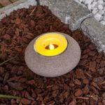 Solcelle vindlys Shivani med LED, i polyresin