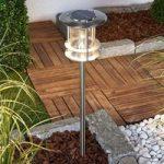 Sumaya – LED solcellelampe i rustfrit stål