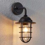 Udendørs væglampe Gero med lille afstiver