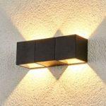 Elian LED udendørs væglampe m. to lyskilder