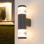 Tamiel – LED udendørs væglampe, mørkegrå