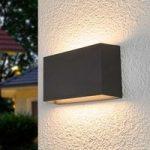 Selma – firkantet LED udendørs væglampe, mørkegrå
