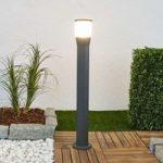 Aluminium vejlampe Melania med LED, mørkegrå