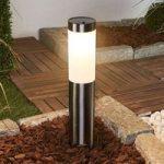 Solcelledrevet LED sokkellampe Lenni rustfrit stål