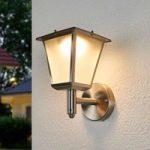 Solcelle udendørs væglampe Anica LED rustfrit stål