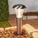 Karoline – LED solcellelampe i rustfrit stål