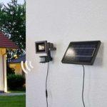 Solcelle LED væglampe Joelina med separat panel