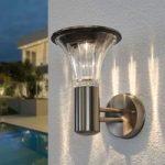 LED udendørs væglampe Eileen, solcelledrevet
