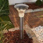 Eileen – LED solcellelampe rustfrit stål jordspyd